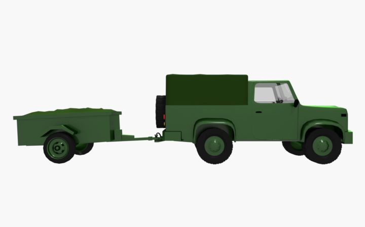 Offroad military vehicle 3D Model