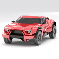 Zarooq Sand Racer 3d model vray 3ds max 3D model 3D Model