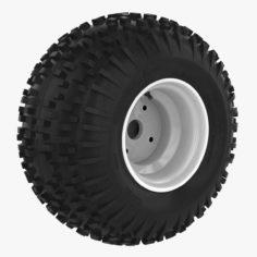 ATV Tire + Rim 3D 3D Model