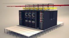 3D Data Communication Server Room model 3D Model