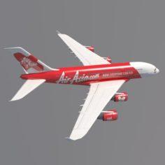 AirAsia A380 Airbus 3D Model