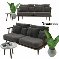 Fly sofa Andtradition Set 3D Model
