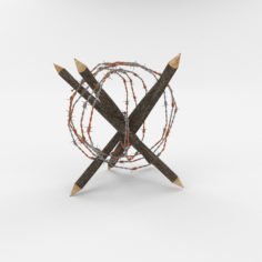 Barb Wire Obstacle 5 3D Model