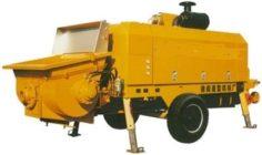 HBT60 Towing concrete pump 2D drawings 3D Model