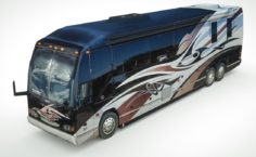 3D model ultra-lowpoly Camper Prevost 3D Model