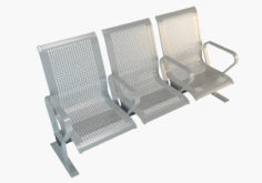 3D Waiting room Metal Chairs (Seats) model 3D Model