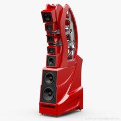 Wilson Audio WAMM Master Chronosonic Imola Red 3D Model
