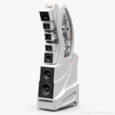 Wilson Audio WAMM Master Chronosonic Fuji Blanco 3D Model