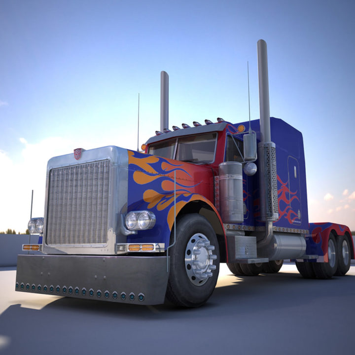 Transformers Optimus Prime model 3D Model
