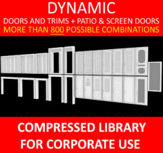 DYNAMIC DOORS AND TRIMS + PATIO DOORS + SCREEN DOORS FOR CORPORATE USE 3D model 3D Model