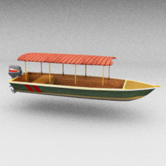 3D Motorboat (Water Taxi) model 3D Model