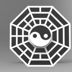 Hand Spinner Yin Yang 3D Print Model