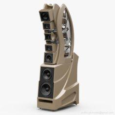 Wilson Audio WAMM Master Chronosonic Desert Silver 3D Model