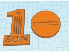 Number 1 Son Trophy 3D Print Model