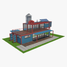3D model Container House 05 3D Model