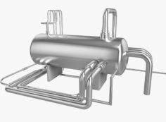 3D Oil Tank 3D Model