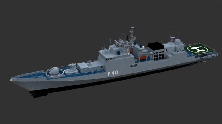 Warship 3d Model – INS Talwar (F40) 3D 3D Model