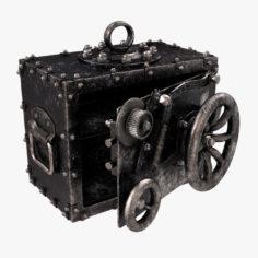 3D Vintage Safe model 3D Model