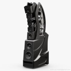 Wilson Audio WAMM Master Chronosonic Black Obsidian 3D Model