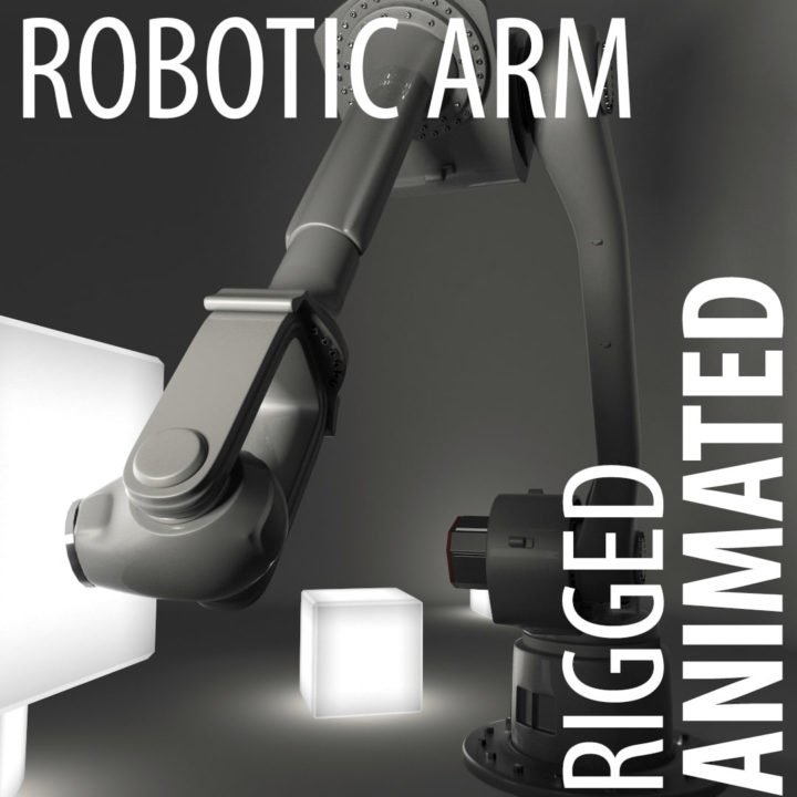 Robotic arm (animated robot hand) 3D Model - 3DHunt co