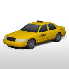 Low Poly NYC Taxi 3D Model