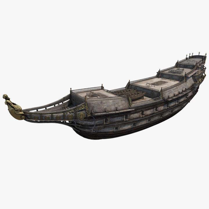 Galeon Ship Body 3D Model