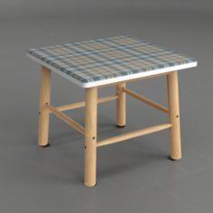 Angular Side Table 3D Model