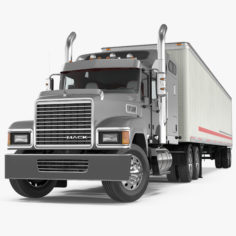 Trailer Truck Mack CHU613 Truck Rigged 3D Model