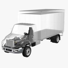 Semi Truck Undercarriage X-Ray 3D Model
