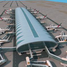 Dubai airport 3D Model