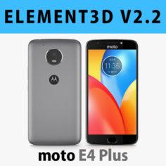 E3D – Motorola Moto E4 Plus Grey 3D model 3D Model