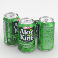 Beverage Can OKF Aloe Vera King 350ml 3D model 3D Model