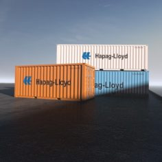3D containers model 3D Model