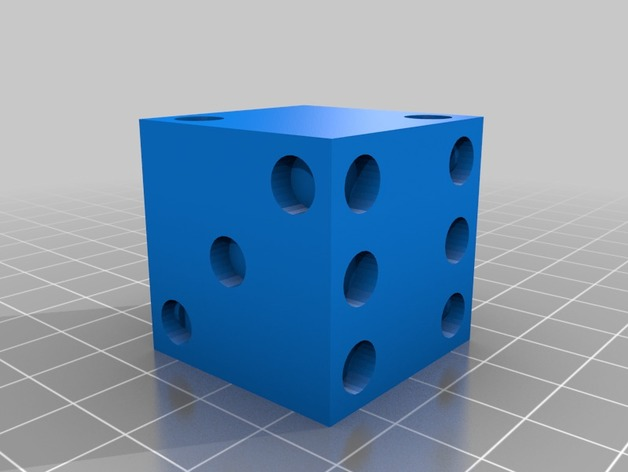 Dice 3D Print Model