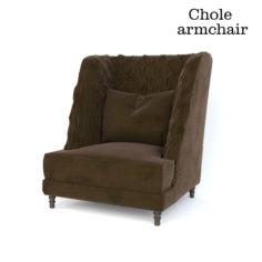 3D Chole louhge chair 3D Model