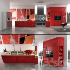 Contemporary kitchen 03                                      3D Model