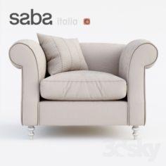 Armchair SABA italia OPIUM                                      3D Model