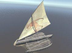 3D model Tropical Sailboat 3D Model