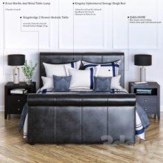 Kingsley Upholstered Storage Sleigh Bed                                      3D Model