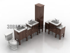 Kohler Tresham Vanities Toilet 3D Collection