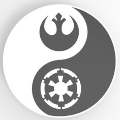 Yin Yang Star Wars 3D Print Model