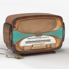 Tabletop radio Oceanic Surcouf 3D Model