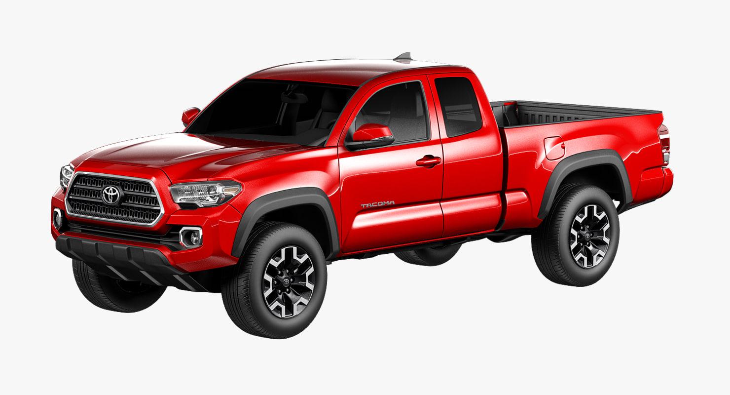 2016 Toyota Tacoma Trd Off Road >> 3D Toyota Tacoma TRD Off-Road 2016 3D Model - 3DHunt.co