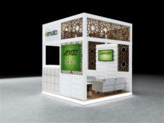Exhibition Booth Design 3Mx3Mx3M 3D Model
