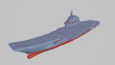 Admiral Kuznetsov Carrier 3D Model