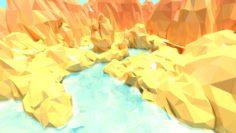 3D cartoon canyon 3D Model