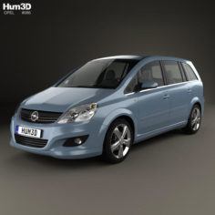 Opel Zafira (B) 2009 3D Model