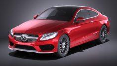 Mercedes-Benz C-class Coupe 2018 VRAY 3D Model