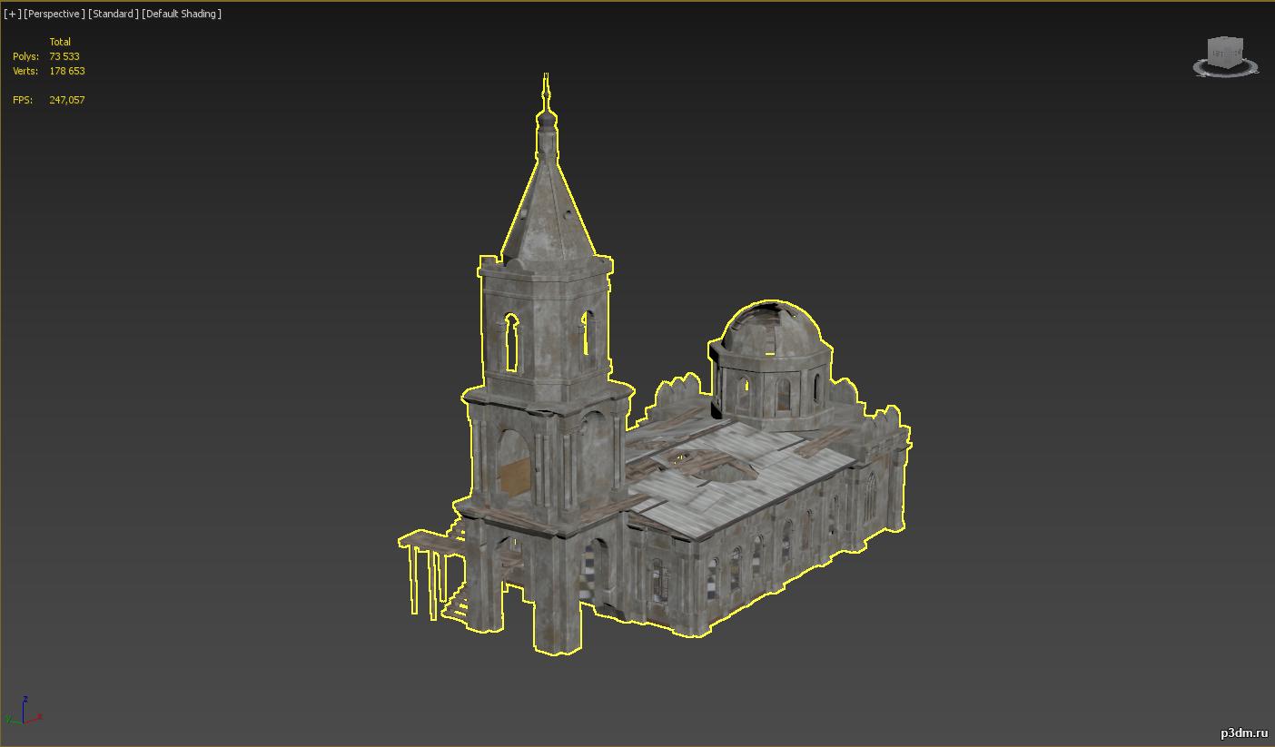 Pubg Church 3d Model 3dhunt Co