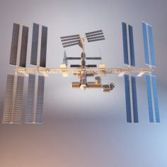 International Space Station With RIG 3D Model